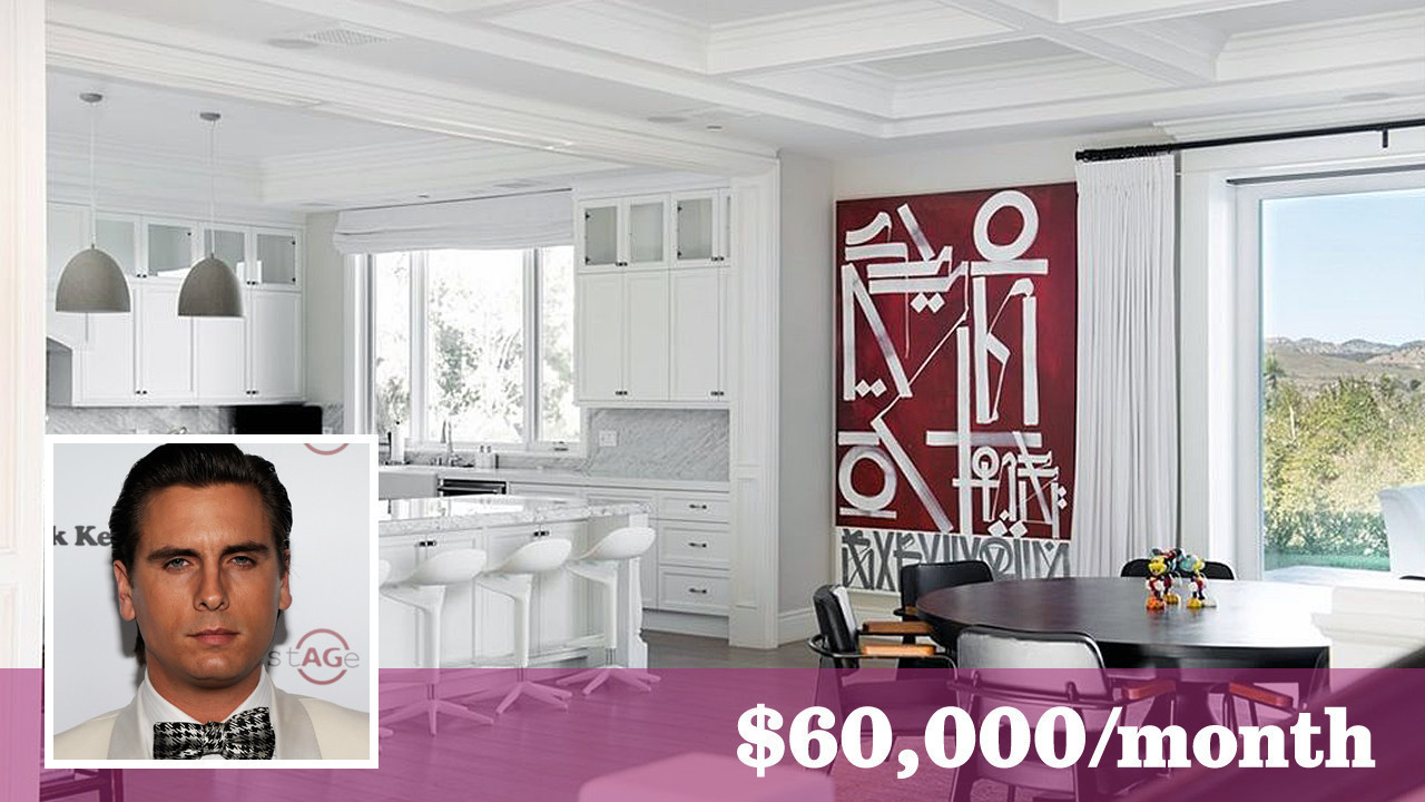 Scott Disick opens up his Hidden Hills bachelor pad for lease