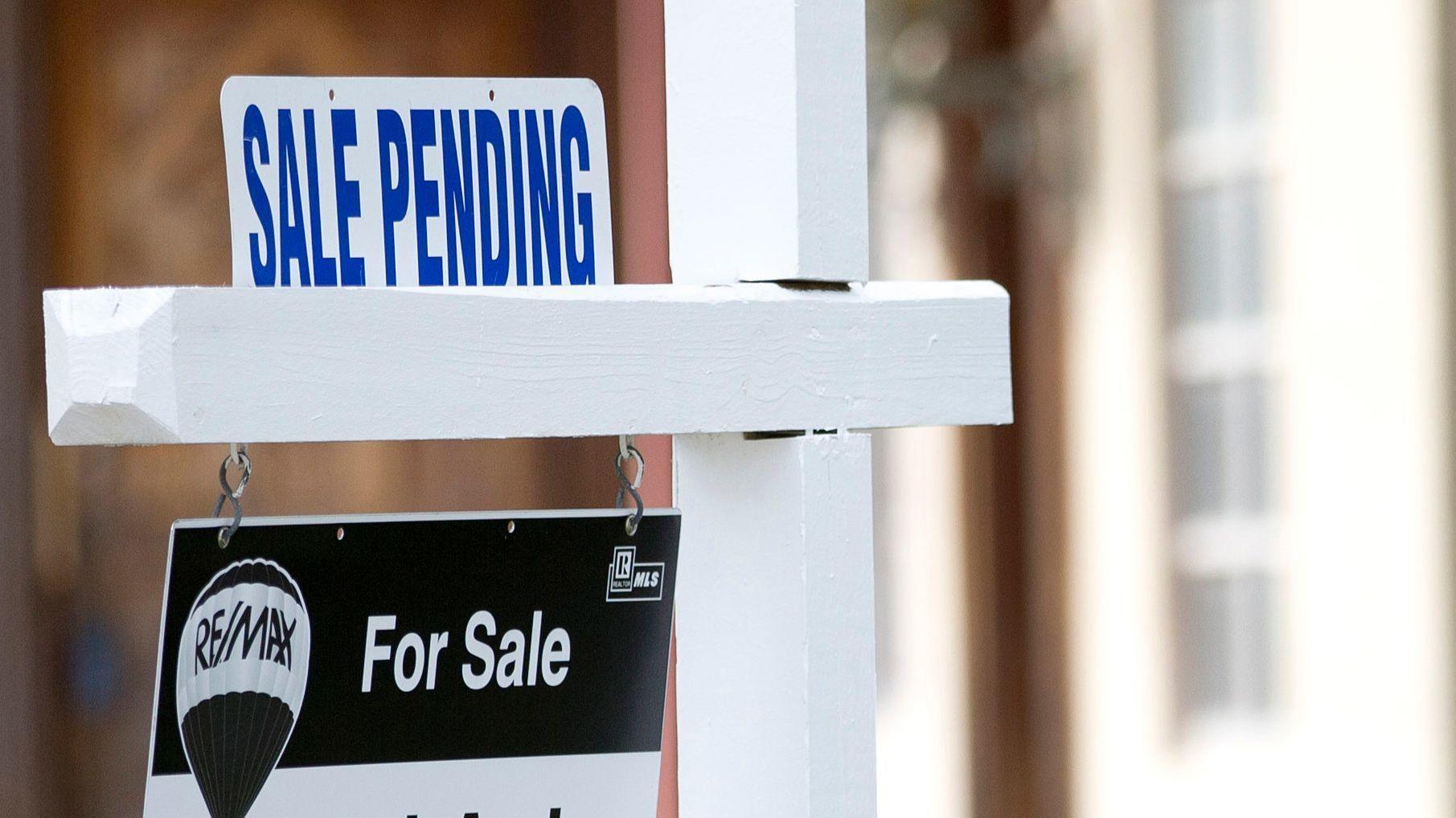 Pending home sales were flat in September