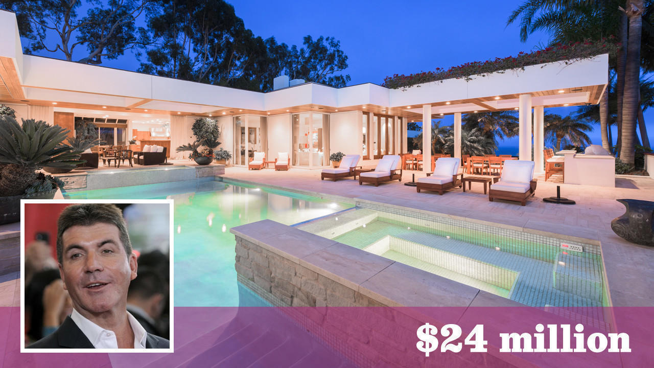 Simon Cowell takes his talents to a bluff top in Malibu
